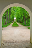 The Park and Avenue in the estate, the house-Museum of Peter Abr Stock Image