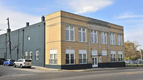Park Avenue Masonic Temple Building Memphis, TN. Stock Photo