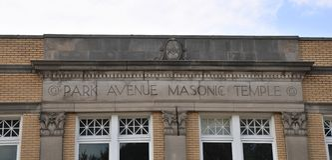 Park Avenue Masonic Temple Sign Memphis, TN. Stock Photography