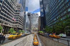 Park Avenue and Metlife Building Royalty Free Stock Photography