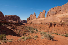 Park Avenue Overlook Arches N.P. Utah Royalty Free Stock Image