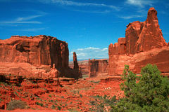 Park Avenue Section Arches National Park Moab Utah Royalty Free Stock Photo
