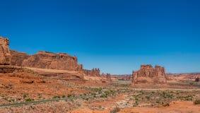 Park Avenue Toeristische attracties van het bogen de Nationale Park, Utah, Verenigde Staten Stock Foto's