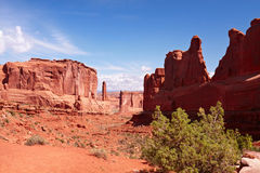 Park Avenue Trail. Arches National Park, Utah, USA Royalty Free Stock Image