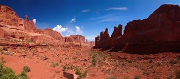 Park Avenue Trail panorama. Arches National Park, Utah, USA Royalty Free Stock Photos
