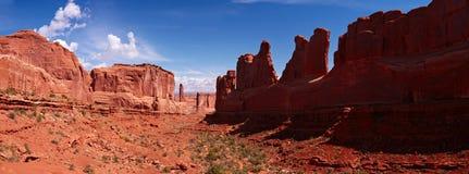 Park Avenue Trail panorama. Arches National Park, Utah, USA Stock Image