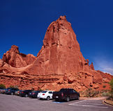 Park Avenue Trail Parking. Arches National Park, Utah, USA Royalty Free Stock Images