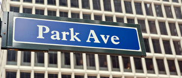 Park Avenue New York Stock Photo
