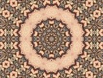 Park-Bänke in einem Kaleidoskop Stockbilder