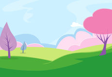 Park Background1 vector illustratie