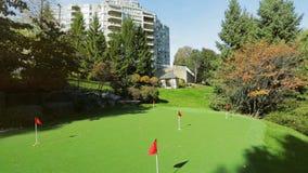 Park backyard area. Golf area with grass stock footage