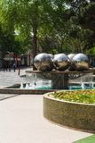 Park in Baku-Stadt Brunnen Stockfotos