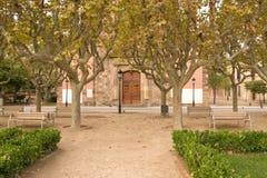 Park in Barcelona stockfotos