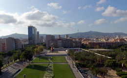 Park of Barcelona city. In the morning. Spain royalty free stock photos