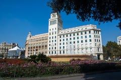 Park in Barcelona Spanje Royalty-vrije Stock Foto's