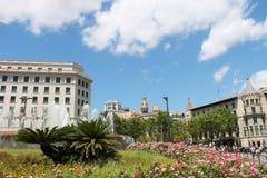Park in Barcelona, Spanje Royalty-vrije Stock Fotografie