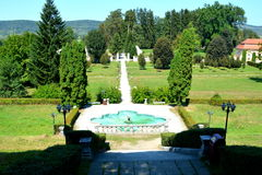 Park of Baron von Brukenthal Palace in Avrig, Transylvania. In Avrig there are a collection of historical monuments.Centuries XI - XVI Royalty Free Stock Photography