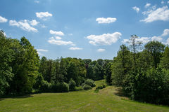 Park. Beautiful park in Krzeszowice (Poland) on sunny day Stock Images