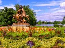 Park. Beautiful park in lyon city france Stock Photos