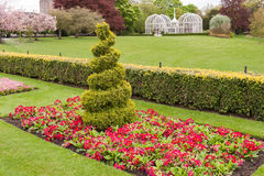 Park. Beautiful park with the white summer house royalty free stock photo