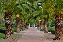 Park benalmadena Royalty Free Stock Images