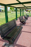A park bench. Bench at the park in city Royalty Free Stock Image