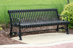 Park Bench. Wrought iron park bench Royalty Free Stock Photos