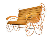 Park bench. Isolated on white background with clipping path Royalty Free Stock Photo