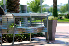 Park Bench. Inviting Park Bench Stock Image