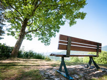 Park bench. At a park in berlin - nice background Royalty Free Stock Photo