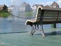 Park bench stock photo