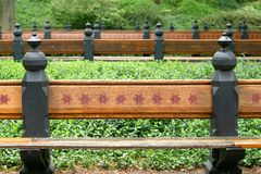 Park bench. Found in central park Manhattan stock photos