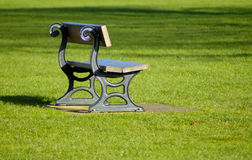 Park Bench. On a sunny day royalty free stock images