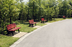 The park bench Royalty Free Stock Photography