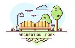 Park bench concept vector illustration