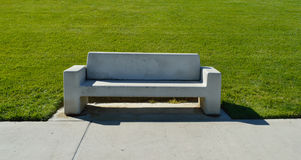 Park Bench. Bench  in Park Concrete Solid Grey Royalty Free Stock Photos