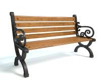Park Bench. 3d illustration of a park bench Stock Photo