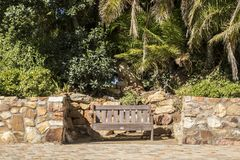 Park bench in full sunshine Stock Photography
