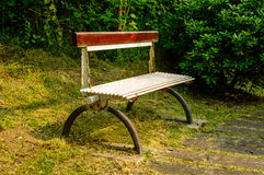 Park Bench in garden 2 Stock Photo