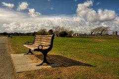 Park Bench HDR Royalty Free Stock Image