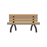 Park bench icon stock illustration
