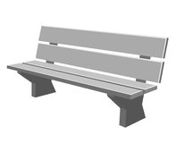 Park bench isolated illustration Stock Images