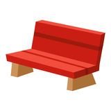 Park bench isolated illustration Stock Photos