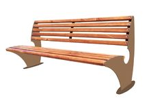 Park bench isolated Royalty Free Stock Images