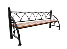 Park bench isolated Stock Images