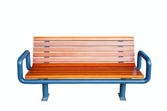 Park bench isolated on white Stock Photos