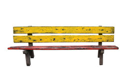 Park Bench Isolated on White Background Royalty Free Stock Photos