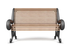 Park bench isolated on white background. 3d render image Stock Photo
