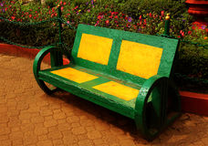 Park bench landscape royalty free stock image