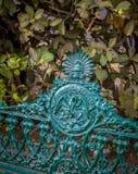 Park bench mexico city royalty free stock photo
